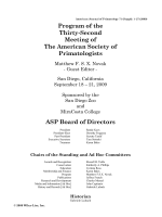 Program of the Thirty-Second Meeting of The American Society of Primatologists.