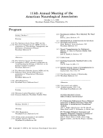 Program. 113th Annual Meeting of the American Neurological Association