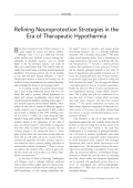 Refining neuroprotection strategies in the Era of therapeutic hypothermia.