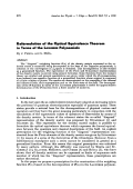Reformulation of the Optical Equivalence Theorem in Terms of the LAGUERRE Polynomials.