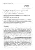 Second order Hamiltonian formalism and constraints algebra for non-polynomial supergravities.
