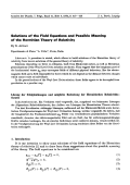 Solutions of the Field Equations and Possible Meaning of the Hermitian Theory of Relativity.