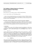 The Problem of Electric Sources in Einstein's Hermite-symmetric Field Theory.