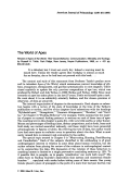 The world of apes. Review of Apes of the World  Their Social Behavior  Communication  Mentality and Ecology  by Russell H. Tuttle. Park Ridge  New Jersey  Noyes Publication  1986  xx + 421 pp  $55