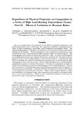 Dependence of physical properties on composition in a series of high load-bearing polyurethane foams. Part II. Effects of variations in reactant ratios
