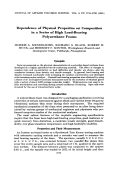 Dependence of physical properties on composition in a series of high load-bearing polyurethane foams.