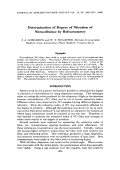 Determination of degree of nitration of nitrocellulose by refractometry.
