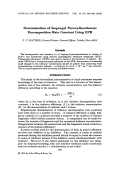 Determination of isopropyl peroxydicarbonate decomposition rate constant using EPR.