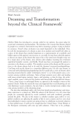 Dreaming and transformation beyond the clinical framework.