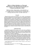 Effect of metal halides on thermal  mechanical  and electrical properties of polypyromellitimide films.