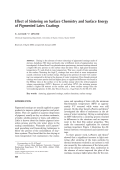 Effect of sintering on surface chemistry and surface energy of pigmented latex coatings.