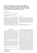 Effect of the structure on sorption and diffusion processes in polyamide 6  part 1  Activation energy and thermodynamic parameters of water desorption in oriented and unoriented polyamide 6.