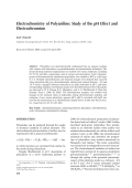 Electrochemistry of polyaniline  Study of the pH effect and electrochromism.