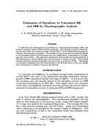 Estimation of butadiene in vulcanized BR and SBR by thermographic analysis.