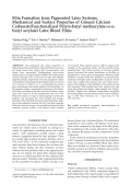 Film formation from pigmented latex systems  Mechanical and surface properties of ground calcium carbonatefunctionalized poly(n-butyl methacrylate-co-n-butyl acrylate) latex blend films.