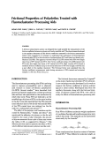 Frictional properties of polyolefins treated with fluoroelastomer processing aids.