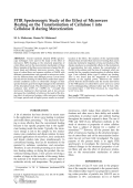 FTIR spectroscopic study of the effect of microwave heating on the transformation of cellulose I into cellulose II during mercerization.