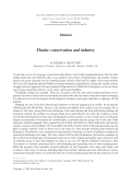Marine conservation and industry.