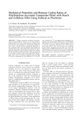 Mechanical properties and biomass carbon ratios of poly(butylene succinate) composites filled with starch and cellulose filler using furfural as plasticizer.