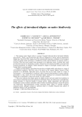 Theeffects of introduced tilapias on native biodiversity.