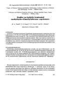 Studies on hydride terminated methylhydro-dimethylsiloxane copolymers.