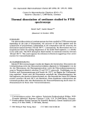 Thermal dissociation of urethanes studied by FTIR spectroscopy.