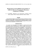 Measurement of free-radical concentration in solids by electron paramagnetic resonance comparison technique.