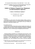Studies on polymers prepared from thiophenol  An electroanalytical approach. I. Studies on poly(phenylene sulphides)