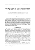The effect of time and type of water pretreatment on the bond strength of epoxyЦaluminum joints.