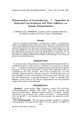 Polymerization of laurinolactam. I. Impurities in industrial laurinolactam and their influence on anionic polymerization
