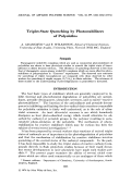 Triplet-state quenching by photostabilizers of polyolefins.