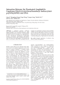 Interaction between the fluorinated amphiphilic copolymer poly(2 2 3 4 4 4-hexafluorobutyl methacrylate)-graft-poly(SPEG) and DNA.