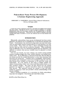 Polyurethane foam process development. A systems engineering approach