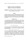 Solution of Tung's axial dispersion equation by numerical techniques.