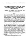 Steam and heat setting of nylon 6 fiber. II. Effects of heat setting of nylon 6 fiber on dyeability and fine structure