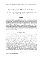 Structural analysis of phenolic resole resins.