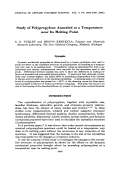 Study of polypropylene annealed at a temperature near its melting point.
