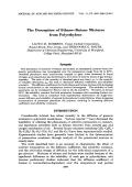 The desorption of ethaneЦbutane mixtures from polyethylene.