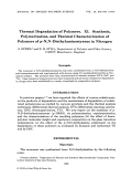 Thermal degradation of polymers. XI. Synthesis  polymerization  and thermal characterization of polymers of p-N N-diethylaminostyrene in nitrogen
