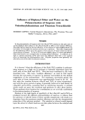 Influence of diphenyl ether and water on the polymerization of isoprene with triisobutylaluminium and titanium tetrachloride.