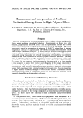 Measurement and interpretation of nonlinear mechanical energy losses in high polymer fibers.