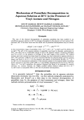 Mechanism of persulfate decomposition in aqueous solution at 50░C in the presence of vinyl acetate and nitrogen.