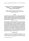 Polymeric alloys of polyphosponates and acetyl cellulose. I. Sorption and diffusion of benzene and cyclohexane