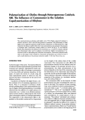 Polymerization of olefins through heterogeneous catalysis. XIII. The influence of comonomer in the solution copolymerization of ethylene