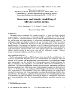 Reactions and kinetic modelling of silicone-carbon resins.