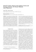 Soft PVC foams  Study of the gelation  fusion and foaming processes. III. Mixed phthalate ester plasticizers
