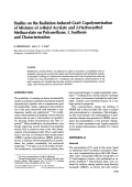 Studies on the radiation-induced graft copolymerization of mixtures of n-butyl acrylate and 2-hydroxyethyl methacrylate on polyurethane. I. Synthesis and characterization
