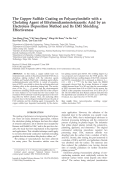 The copper sulfide coating on polyacrylonitrile with a chelating agent of ethylenediaminetetraacetic acid by an electroless deposition method and its EMI shielding effectiveness.