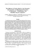 The influence of carbon black on the extrusion characteristics and rheological properties of elastomers  Polybutadiene and butadieneЦstyrene copolymer.