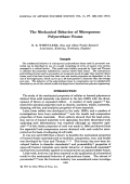 The mechanical behavior of microporous polyurethane foams.